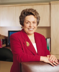 SHOWING HER MEDAL: President Donna E. Shalala was selected by President George W. Bush to receive the Presidential Medal of Freedom. She will receive her award alongside others in a White House ceremony on June 19. Image courtesy Media Relations