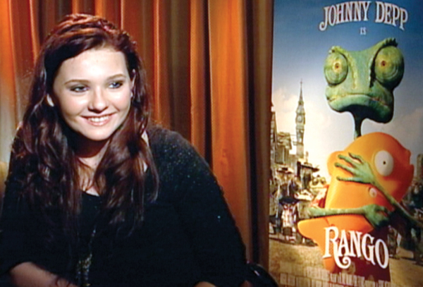 "Breslin, 15, voice of mouse in ""Rango"""