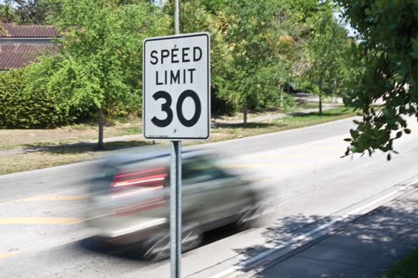 Reduced speed for UM's internal roads