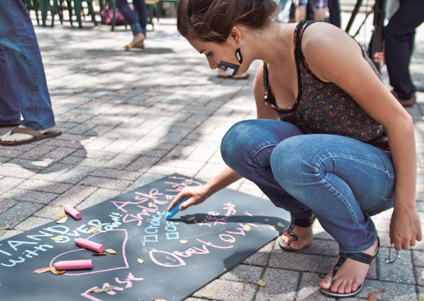 'Chalking is not a crime'