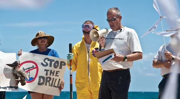 Floridians protest off-shore drilling