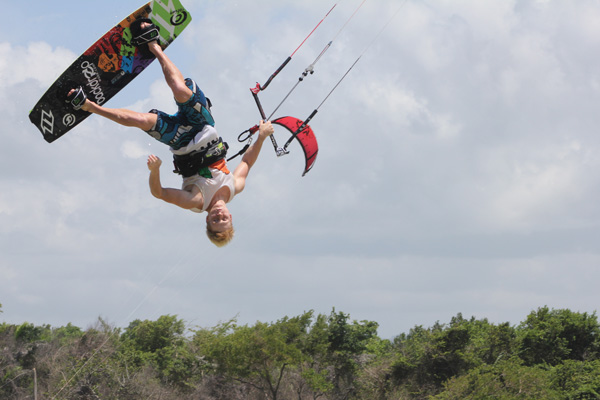 Kiteboarders fly high in new club sport
