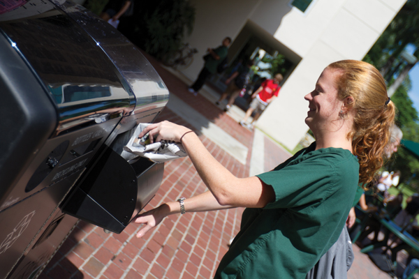 Solar compactor increases efficiency