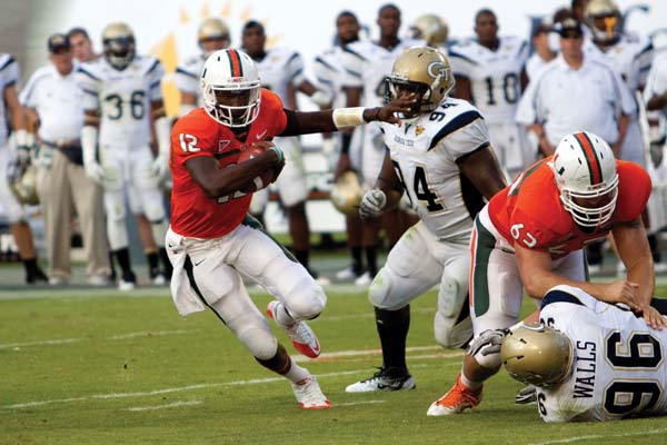 Canes silence Tech, gain ground in ACC