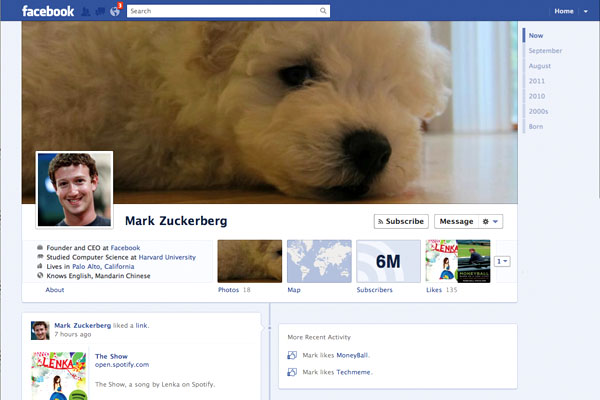 Facebook profile changing face