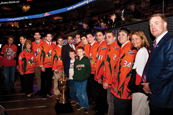 Miami Ice Hockey Team Honored