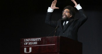 "Tuesday night February 21st, Cornel West, a noted author, activist, commentator, and Princeton professor, spoke to an enthusiastic crowd of students, faculty and staff at the 2012 Spring Convocation. His speech was a part of  ""Unity in Diversity,""€ a series of events commemorating the 50th anniversary of desegregation at UM. Monica Herndon//The Miami Hurricane"