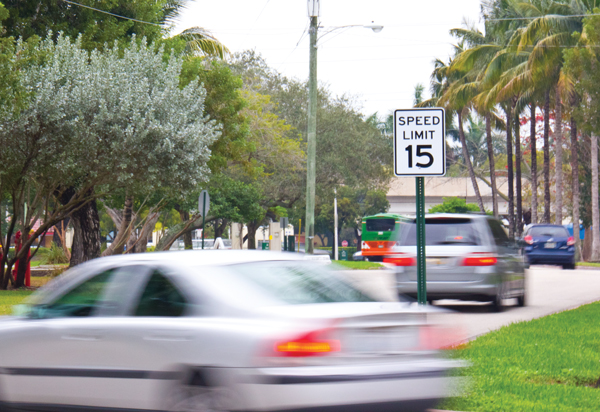 Police enforce new speed limit