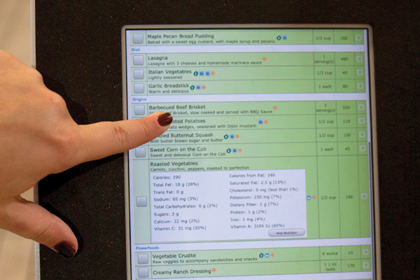 iPads offer nutritional facts at campus eateries