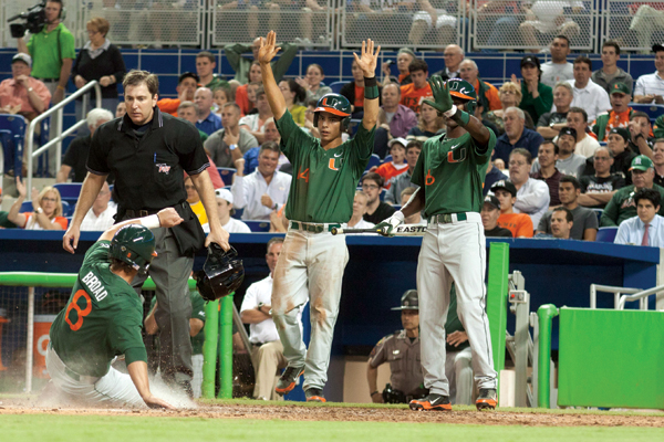 Canes fall to Marlins, defeat Redhawks in week of walk-offs