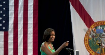 First Lady Michelle Obama addresses the public about the upcoming election. Cayla Nimmo // Photo Editor