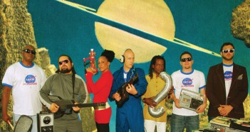 (l-r)Tomas Diaz, Jose Elias, Mercedes Abal, DJ Le Spam, AJ Hill, Ted Zimmerman, Chad Bernstein. Courtesy Spam Allstars