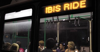 Students wait for the next Ibis Ride, a convenient and safe way to get to and from Coconut Grove on Thursday and Friday nights. Shot 9/20. Nick Rodriguez // Contributing Photographer