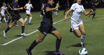 Shannon McCarthy, freshman defender in Friday's game verses UTSA. Girls won the game 1-0. Nick Gangemi // Contributing Photographer