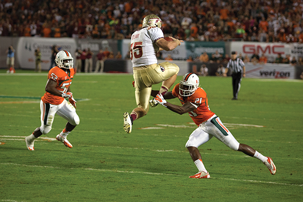Miami falls to FSU in front of 73,000 fans