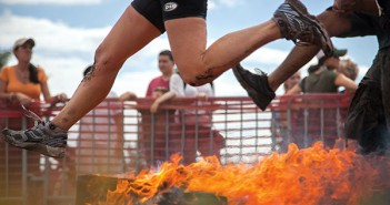 On Saturday morning, Warrior Dash came to Amelia Earhart Park in Hialeah. This intense 5k hosted a series of obstacles for races to overcome, including jumping over a series of flaming logs. Cayla Nimmo // Photo Editor