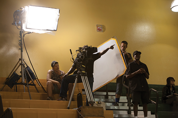 Hollywood film crew trains UM students