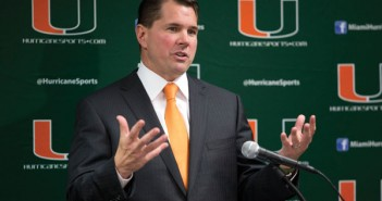 Head Coach Al Golden adresses the press during signing day on Wednesday afternoon. Zach Beeker // Staff Photographer