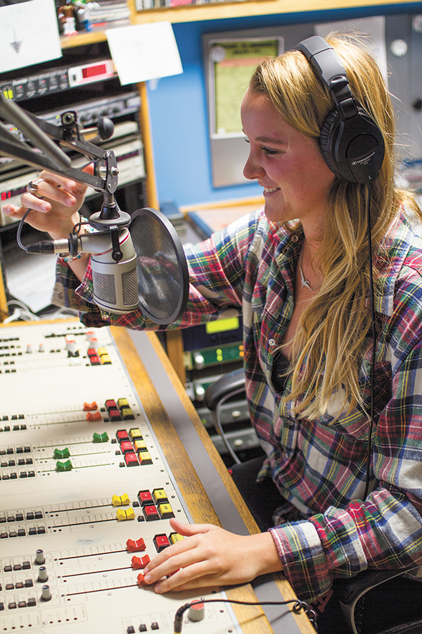 Senior Katie Sullivan is a WVUM DJ. Her show is every Wednesday from 3-4pm. Nick Gangemi // Contributing Photographer