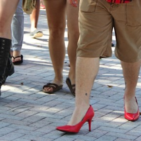 Photo Brief: Walk a Mile in Her Shoes event sheds light on gender issues