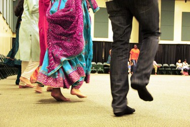 Attendees dance at Garba on Friday night. Michelle Brener // Contributing Photographer