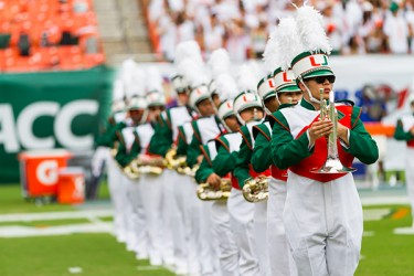 The UM marching band provided pre-game entertainment. Nick Gangemi // Assistant Photo Editor