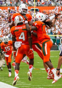 Phillip Dorsett's early touchdown fired up players and fans. Nick Gangemi // Assistant Photo Editor