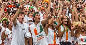 Energy filled the student section of Sun Life Stadium as the Hurricanes served a defeat to rival Florida State. Nick Gangemi // Assistant Photo Editor