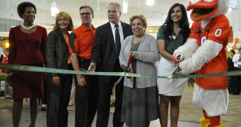 UM officials attend the ribbon cutting ceremony at the Mahoney-Pearson dining on Friday. Holly Bensur // Staff Photographer