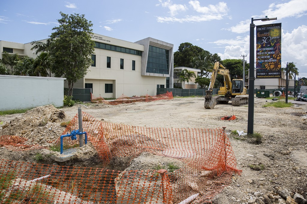 Construction for Frost music studios continues