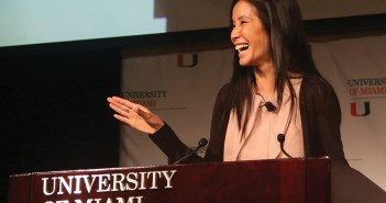 Lisa Ling, journalist and host of Our America on The Oprah Winfrey Network, spoke at Monday's University of Miami Fall Convocation. Ling recounted controversial stories from her travels around the world, including trips to Afghanistan, China, and North Korea. She spoke on topics such as sex trafficking, gender transformation, imprisonment, drugs, and faith. Ling concluded the Convocation by encouraging students to take the time to travel and open their eyes to the world.  Torie O'Neil // Contributing Photographer