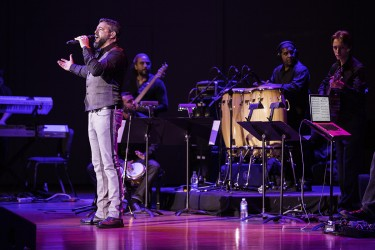 Singer Luis Enrique filled Gusman Hall with the energetic rhythms of salsa music during his Festival Miami performance on Saturday night. Nick Gangemi // Assistant Photo Editor
