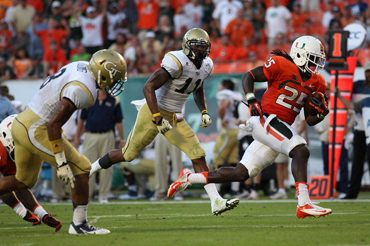 Canes erupt in fourth quarter to down GT