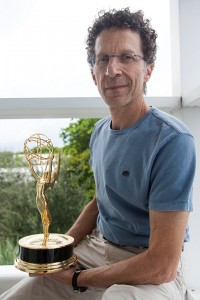Jeffery Stern poses for a portrait with his Emmy in the School of Communication on Thursday. Stern won an Emmy for his sound editing work on Boardwalk Empire. Monica Herndon // Photo Editor
