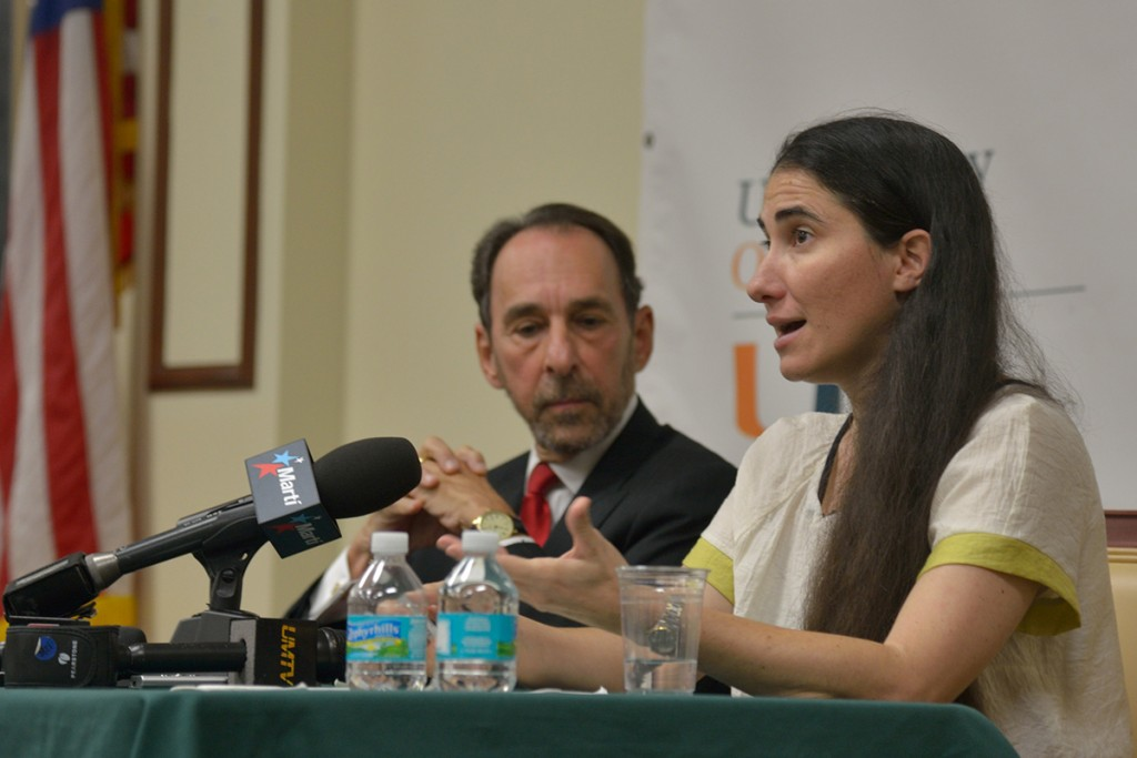 Cuban blogger returns to campus