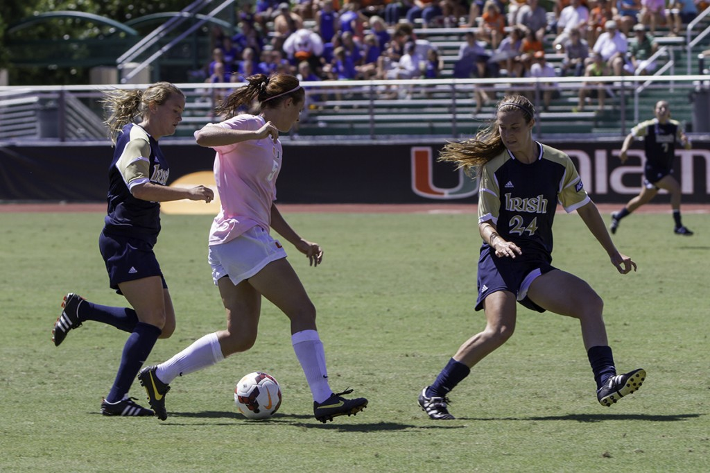 Flinn scores twice as Miami beats No. 3 Notre Dame