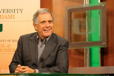 CEO of CBS, Leslie Moonves spoke with student media on Monday afternoon in the School of Communication Studio C. Monica Herndon // Photo Editor