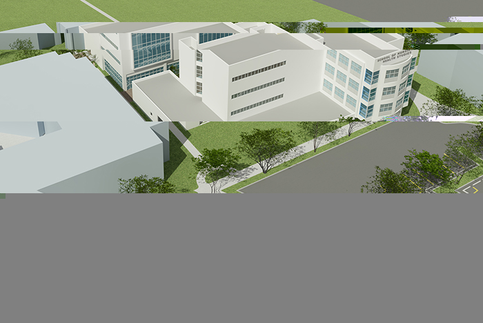 The proposed location of the Simulation Hospital to be built at the School of Nursing and Health Studies. Photo Courtesy of the School of Nursing and Health Studies