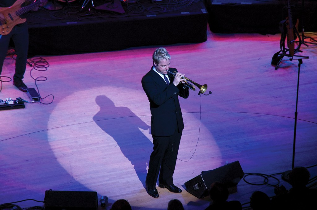 "Chris Botti performs with his band at ""An Evening with Chris Botti"" on January 17th at the Adrienne Arsht Center in the James L. Knight Center. Luisa Andonie // Contributing Photographer"