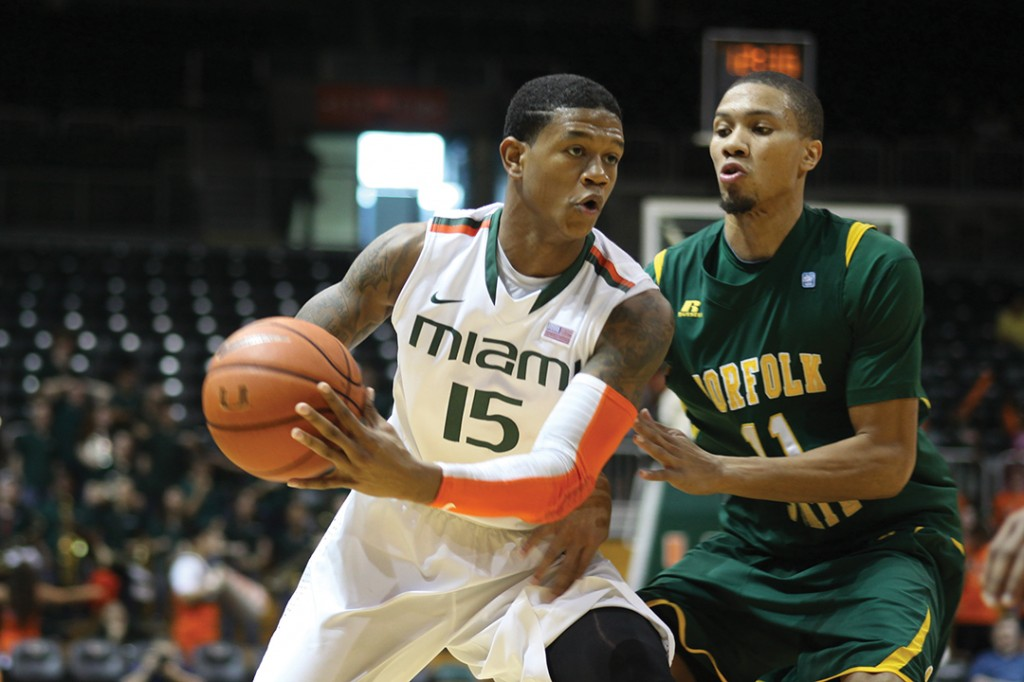 Four double-digit scorers lead Miami in win