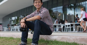 Collin Li poses for a portrat outside the SAC on Thursday afternoon. Monica Herndon // Photo Editor