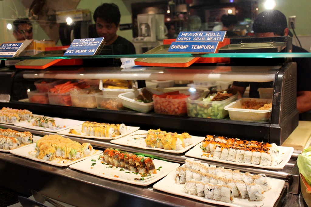 Kyojin serves endless amounts of fresh sushi each day. Customers can pay just $18 for an unlimited supply. Hallee Meltzer // Contributing Photographer