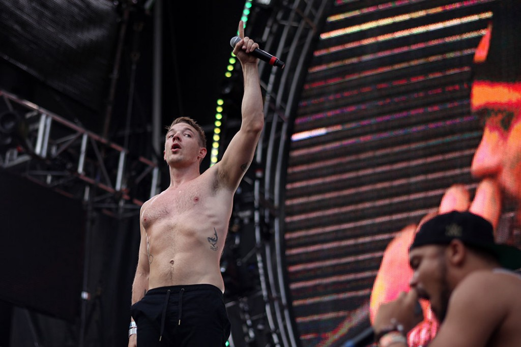 Diplo performs at the Main Stage during Ultra on Friday afternoon.