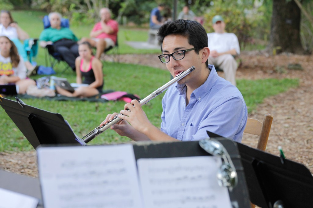 Doctoral student Daniel Velasco performed with other Frost School of Music students in the Arboretum on Wednesday evening. Yinghui Sun // Staff Photographer