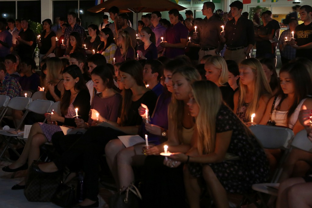 Vigil held in remembrance of freshman