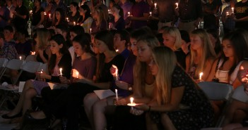 University of Miami students gathered to celebrate the life of Melissa Ribeiro, freshman and sister of Delta Phi Epsilon, who passed away Wednesday night after a sudden illness. Torie O'Neil // Contributing Photographer
