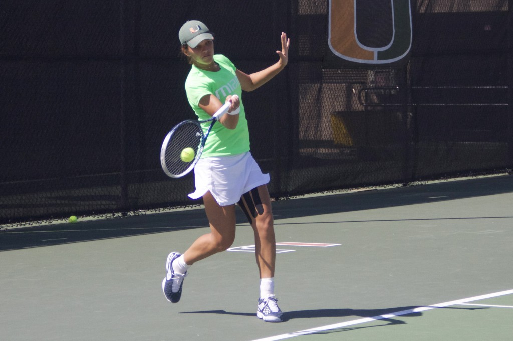 Virginia games bring Miami women's tennis one loss, one win