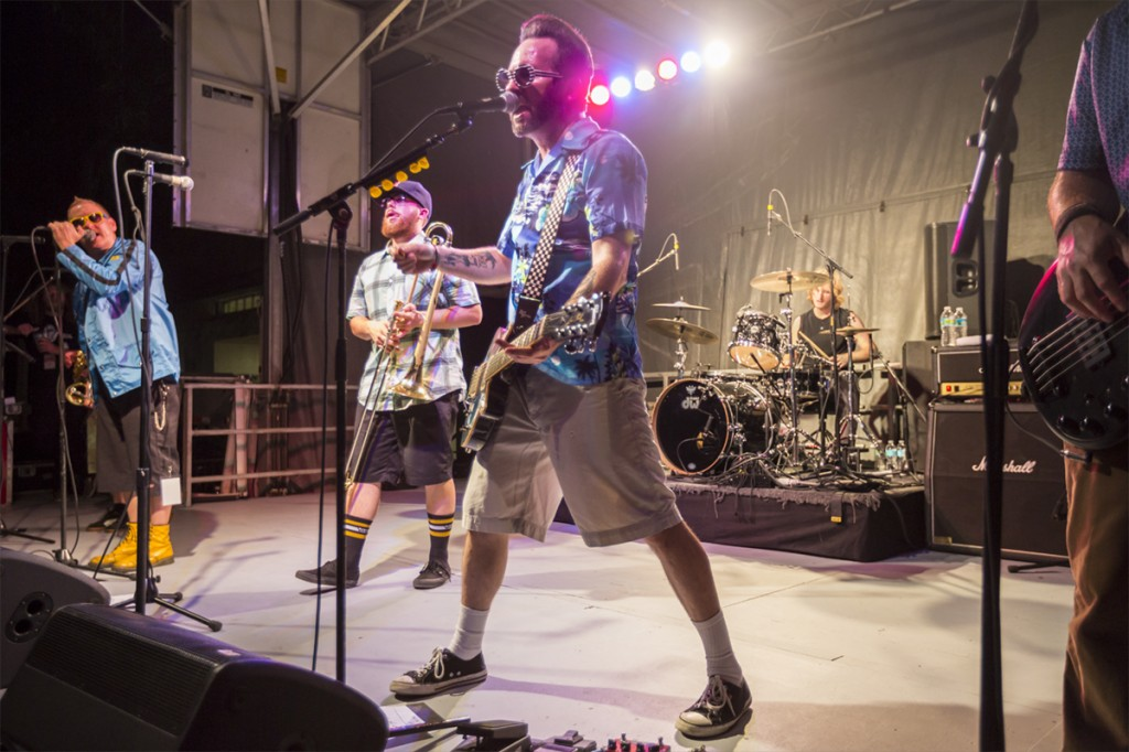 The Californian ska-punk band Reel Big Fish preform on the Green Friday night during 'Canes Carnival. Nick Gangemi // Assistant Photo Editor