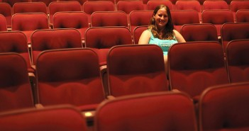 Senior Stephanie Rey poses for a portrait in the Cosford Cinema on Wednesday afternoon. Monica Herndon // Photo Editor