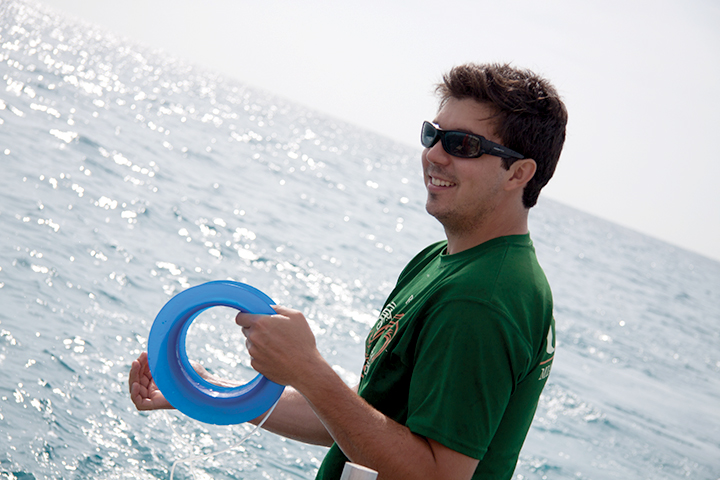 Shark enthusiast reels in safety research
